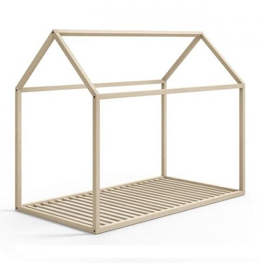 Estructura casita de madera de haya natural para cama 90 x 190 - Muebles Ros