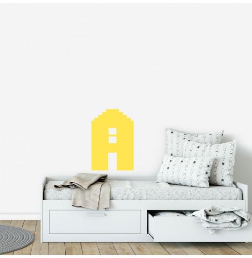 Vinilo casa - amarillo