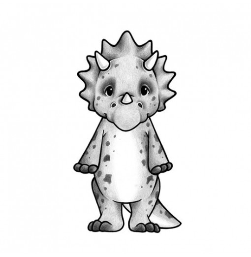 Vinilo Trixi el Triceratops - Stickstay