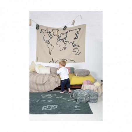 Colgante Pared Canvas Map de Lorena Canals