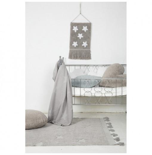 Alfombra Hippy Stars gris - Lorena Canals