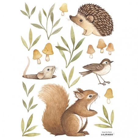 Vinilo Animales del bosque - Lilipinso
