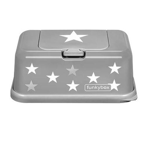 Caja para toallitas estrellas gris - Funkybox