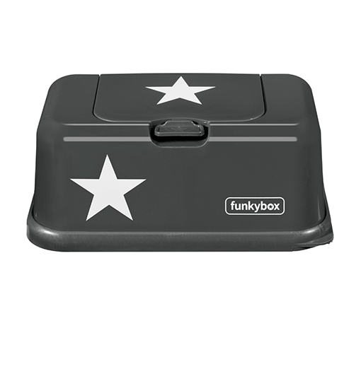 Caja para toallitas estrella gris oscuro - Funkybox