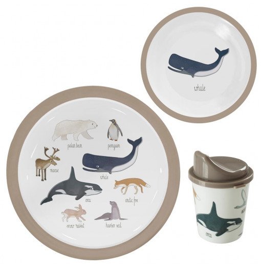 Set vajilla Arctic Animals - Sebra