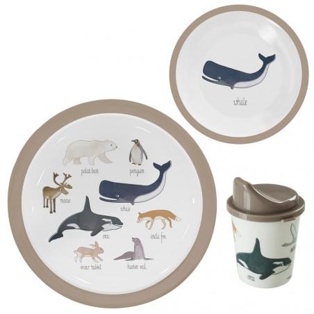 Set vajilla Arctic Animals - Sebra