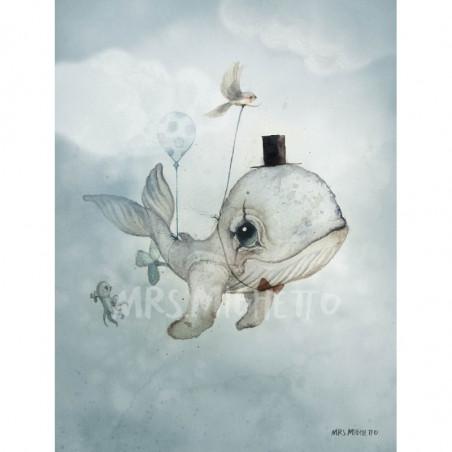 Póster Dear Whalie - Mrs. Mighetto