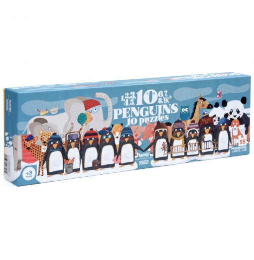 10 penguins puzzle - Londji