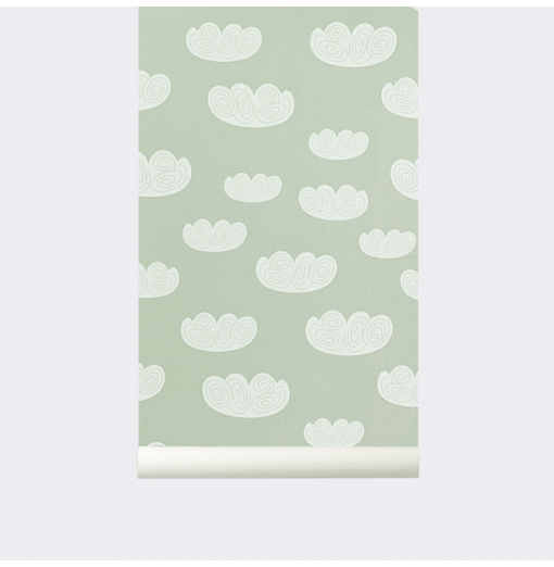 "Papel pintado ""Cloud"" menta..."