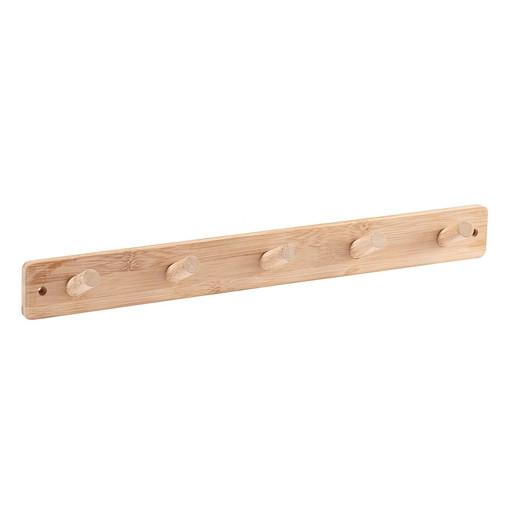 Perchero de bambú con 5 colgadores