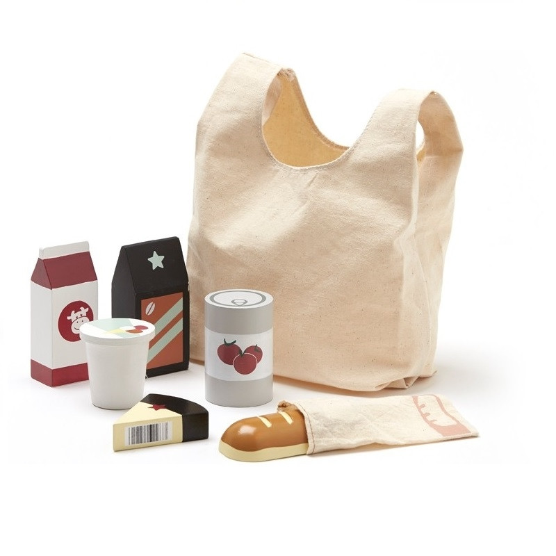 Bolsa de la compra con comestibles - Kids Concept