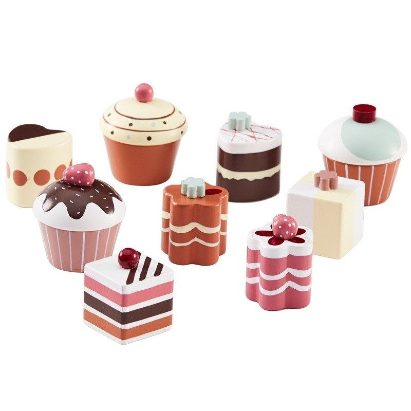 Set de 9 pasteles de madera - Kids Concept