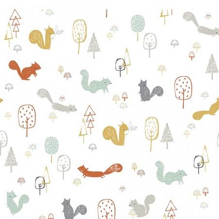 Papel pintado ardillas en el bosque - Lilipinso