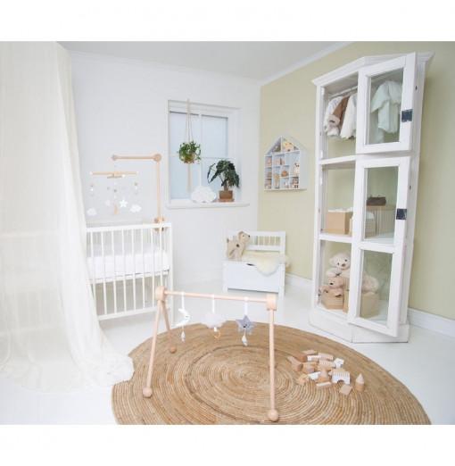 Gimnasio de bebé de madera blanco - Jabadabado