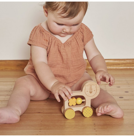 Arrastre manual de madera León - Petit Collage