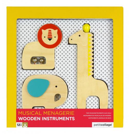 Animales musicales de madera - Petit Collage