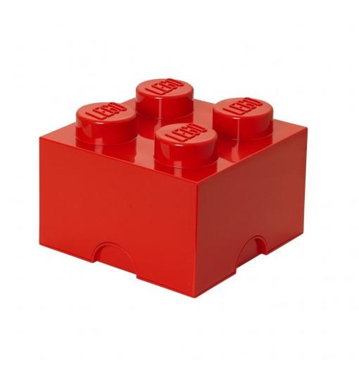 Caja de almacenaje LEGO 4 roja