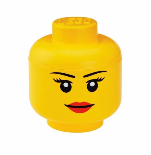 Cabeza de almacenaje LEGO pequeña - chica