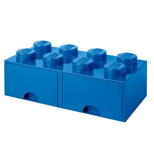 Caja de almacenaje LEGO 8 con cajones - azul
