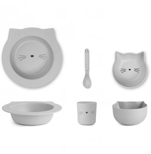Set Barbara bamboo baby set Cat Dumbo Grey Liewood