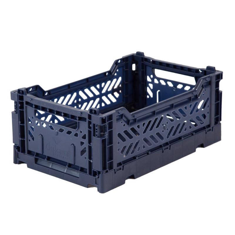 Caja plegable pequeña - azul oscuro