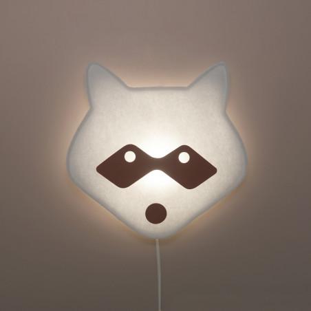 Lámpara de pared Mapache - Buokids