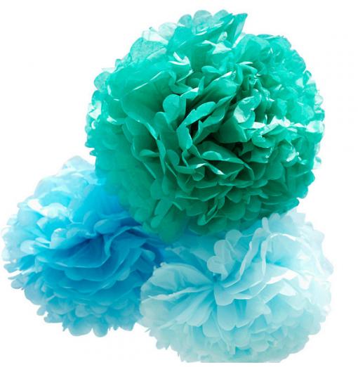 Kit de Pompones azules de...
