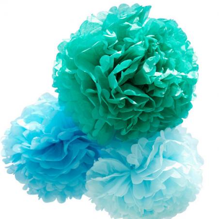 Kit de Pompones azules de Engel