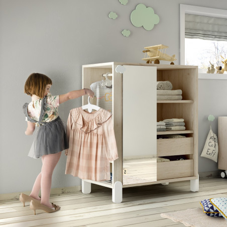Armario intantil Montessori doble con espejo - Ros