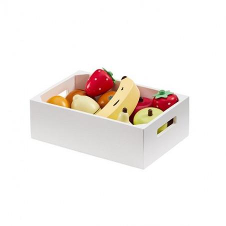 Caja con surtido de frutas de madera - Kids Concept
