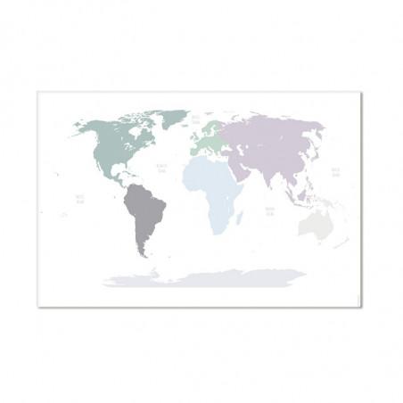 Alfombra vinílica Mapa Mundi - Colores pastel