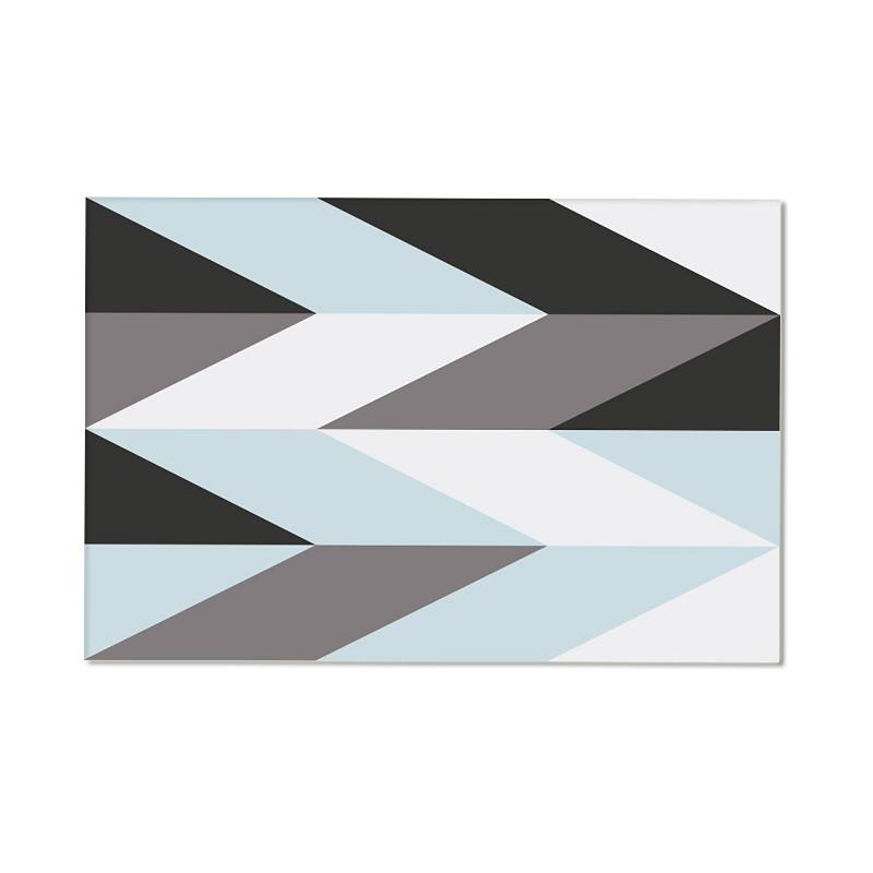Alfombra vinílica Arrow - Azul y gris
