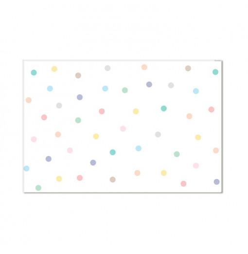 Alfombra vinílica confetti - colores pastel
