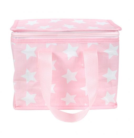 Nevera pequeña estrellas rosa