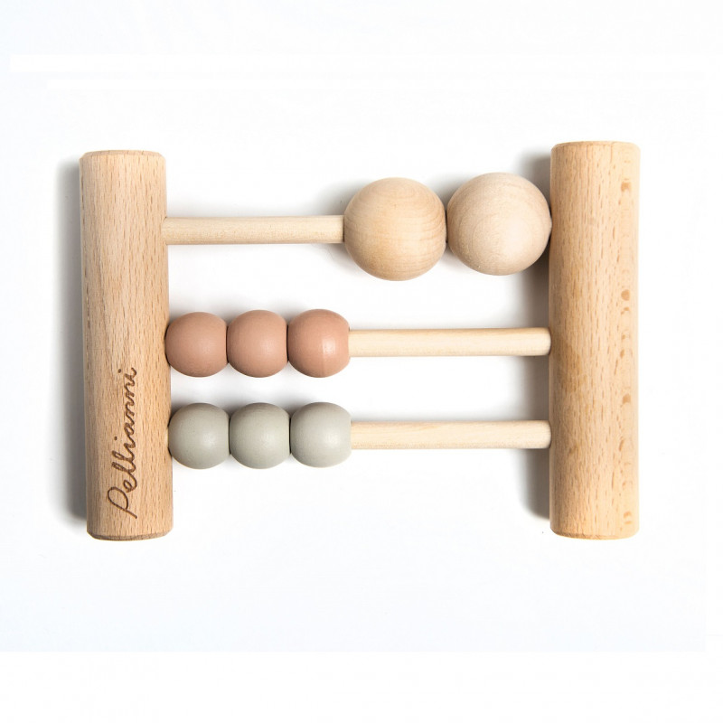 Mini ábaco de madera en colores pastel - Pellianni