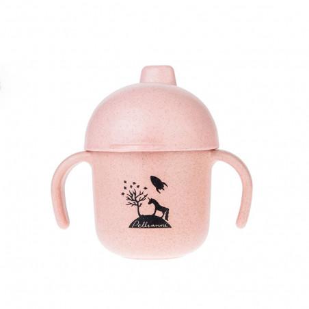 Vaso para bebé biodegradable rosa - Pellianni