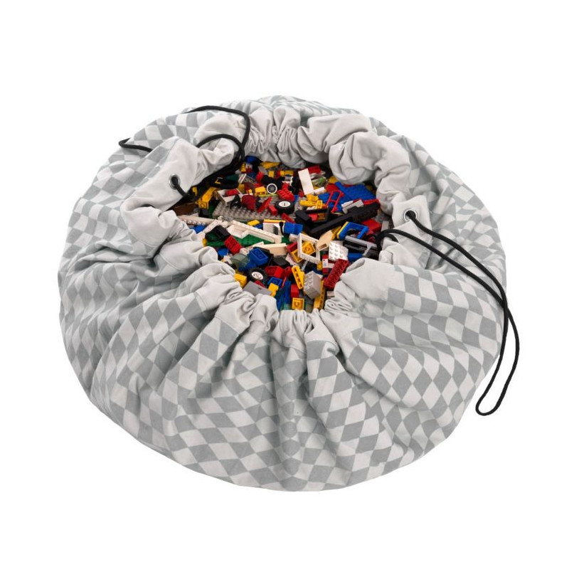 Saco de almacenaje Diamond gris - Play & Go