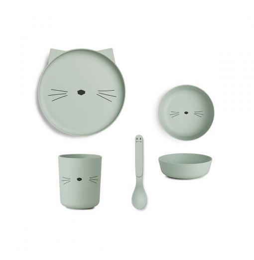 Set de juego de mesa bamboo Cat mint - Liewood
