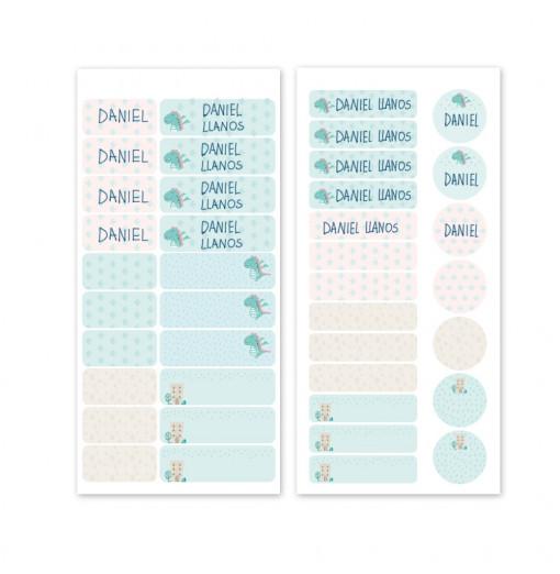 Etiquetas para marcar ropa - Dragón