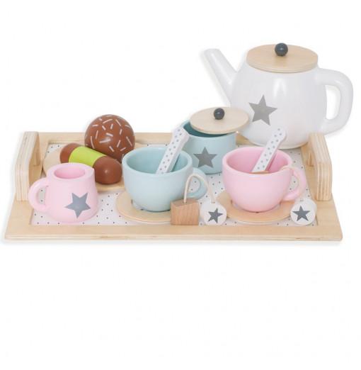 Juego de té de madera - Jabadabado