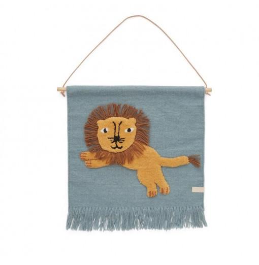 Alfombra de pared Jumping Lion - Oyoy