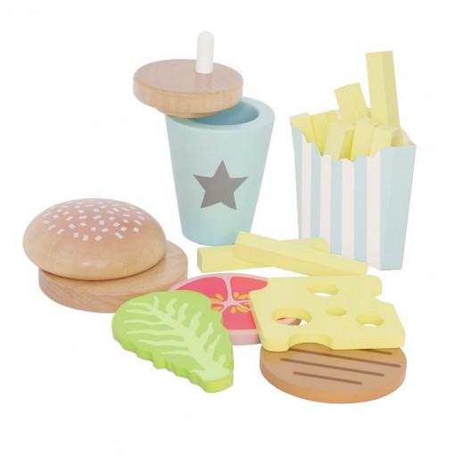 Set de hamburguesa de madera - Jabadabado