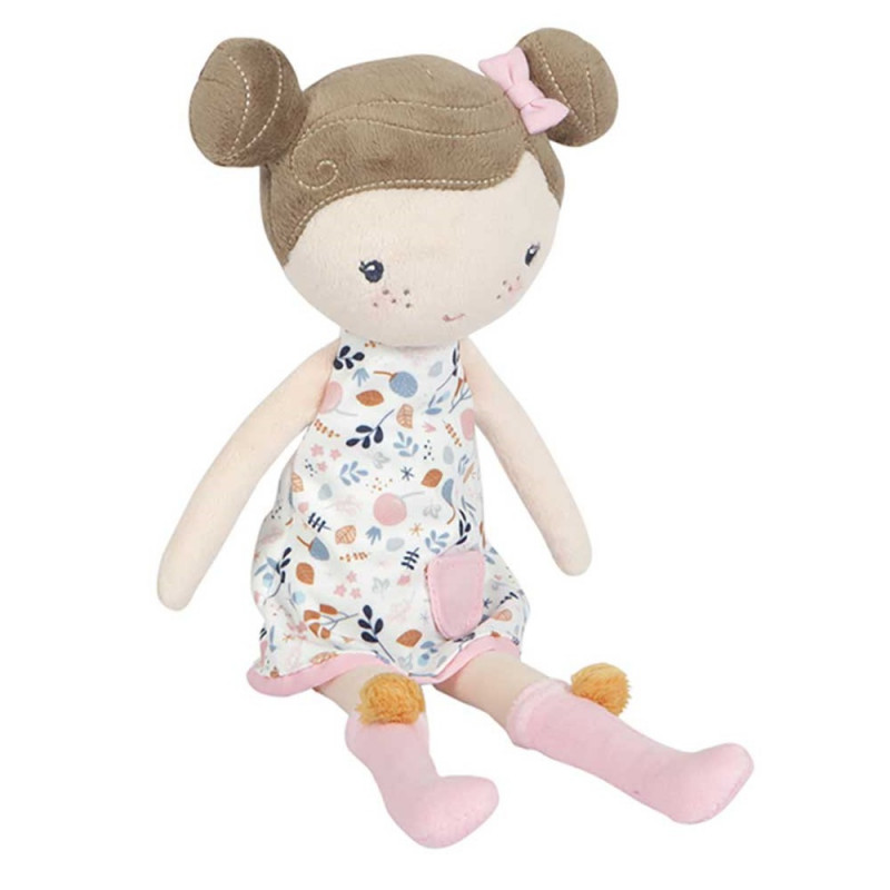 Muñeca Rosa con caja transportadora - Little Dutch