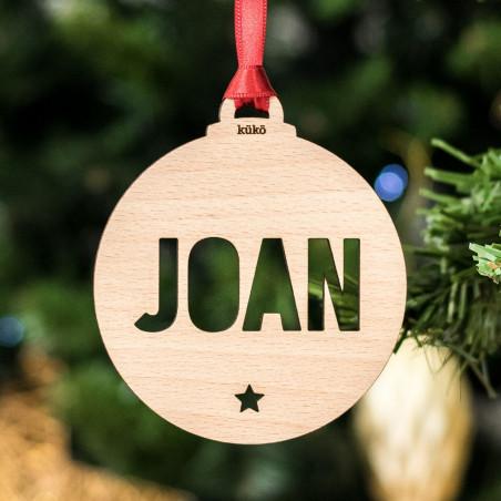 Bola de Navidad personalizada - madera de haya