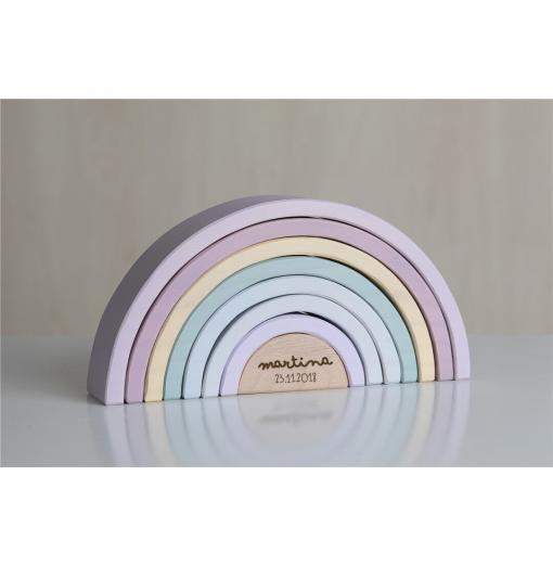 Arcoiris de madera colores pastel - Little Dutch