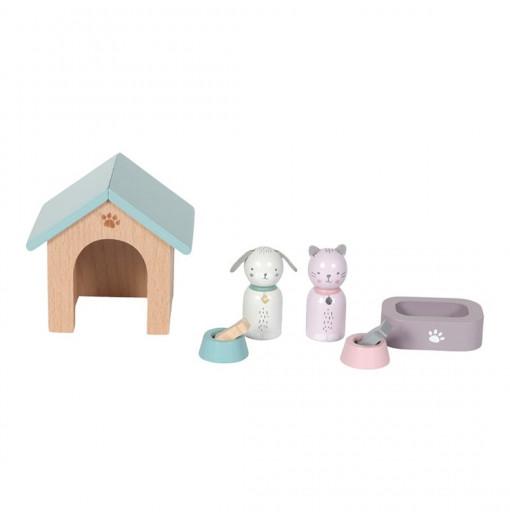 Set de mascotas para casa de muñecas - Little Dutch