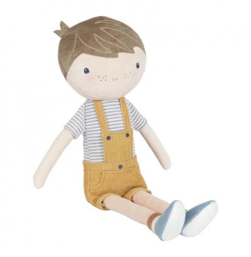 Muñeco Jim con caja transportadora 50 cm - Little Dutch