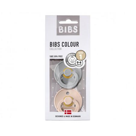Pack de 2 chupetes azul y rosa - BIBS