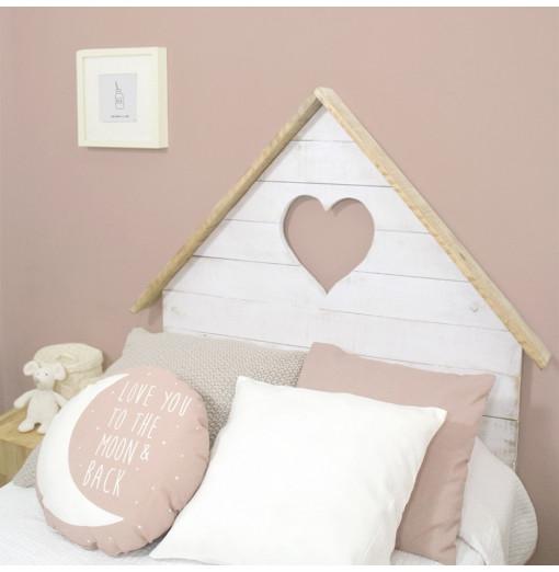 Cabecero casita con corazón - Varios colores