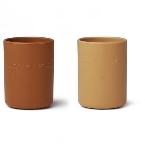 Pack de 2 vasos de silicona yellow mix Ethan - Liewood
